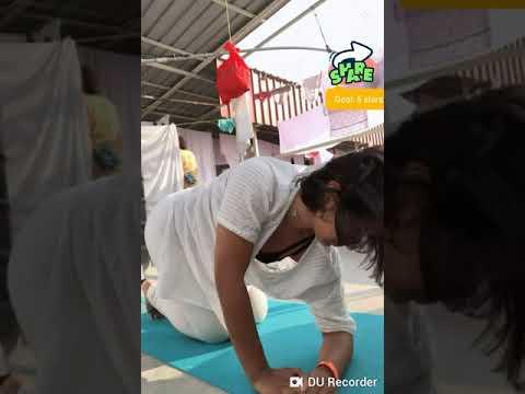 Indian girl Yoga Tutorial in roof | Yoga Practice 2019 | Indian Yoga Trainer Miss MIM