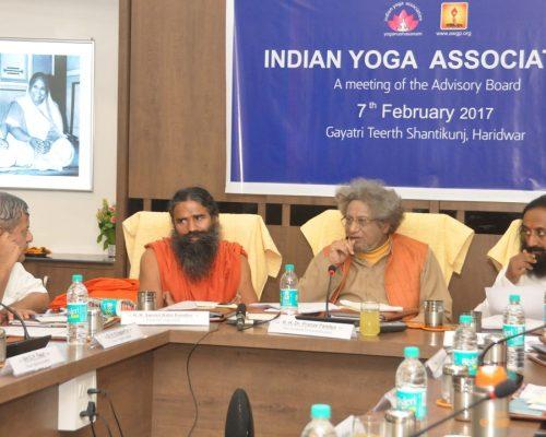 Indian Yoga Association A meeting of Advisory Board  07 February 2017 At shantikunj Haridwar