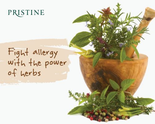 Keep calm and combat allergies with natural herbs