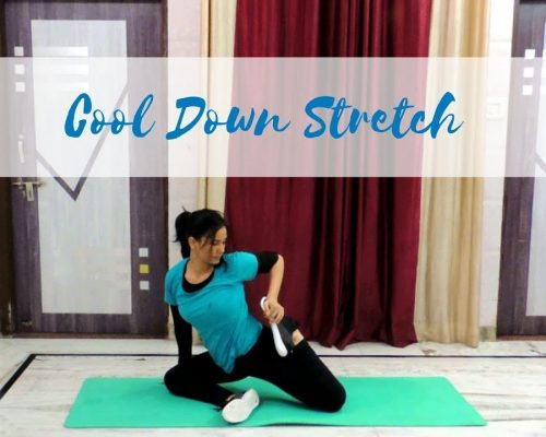 Fast 5 Minute Cool Down and Stretching Workout with Yoga Poses | Indian Yoga with Dolly's Studio