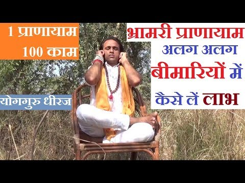 Bhramri Pranayama Yoga | Bee Sound Breathing for Health | Yoga Guru Dheeraj Hindi