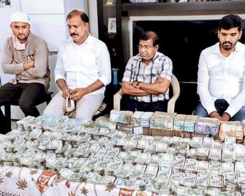 T'gana: Tehsildar, 3 others held with Rs 1cr cash
