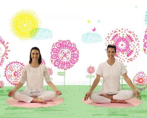 """YOGIC / Yoga para Niños – Cápsula """"El cuento de las mariposas"""" – Juegos y canciones infantiles"""