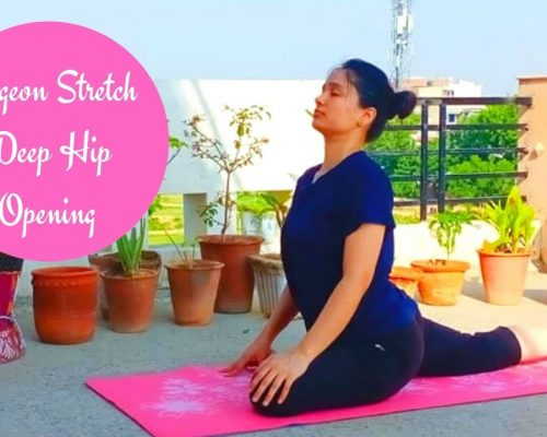 Pigeon stretch | Deep Hip Opening & Stretch | Indian Yoga with Dolly's Studio