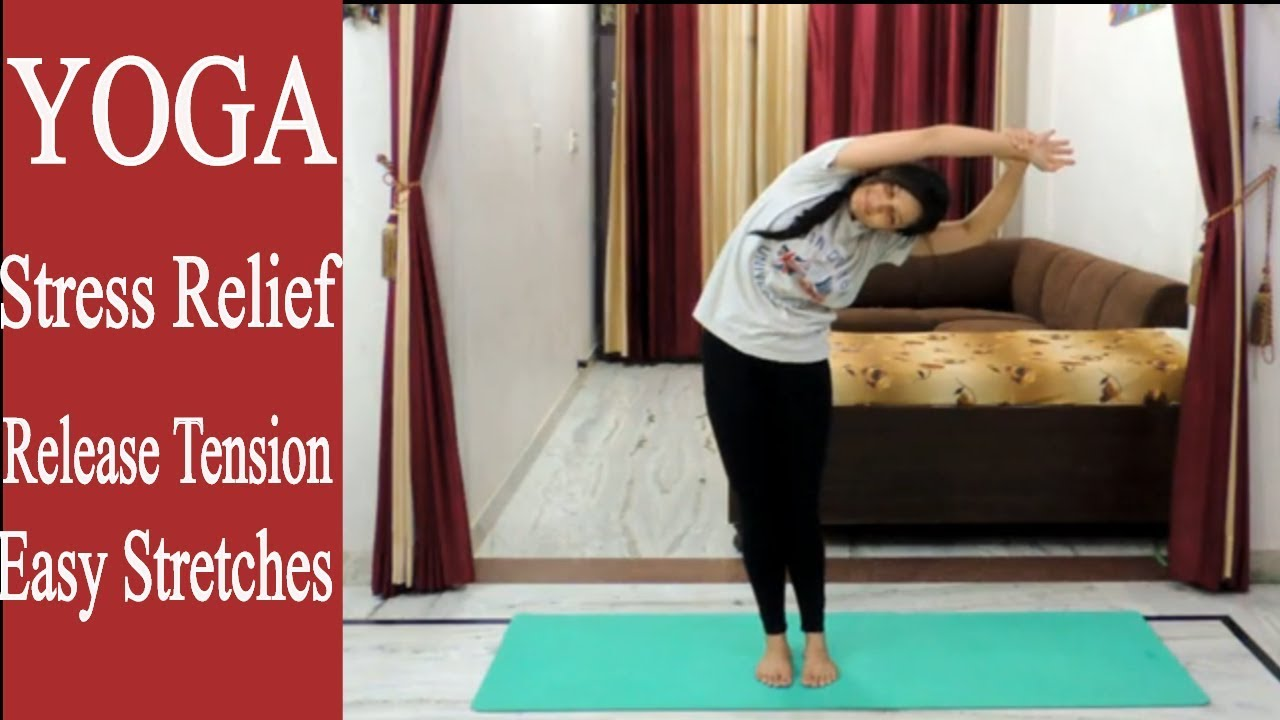 YOGA for Stress Release | Release Tension | Easy Stretches | Indian Yoga with Dolly's Studio
