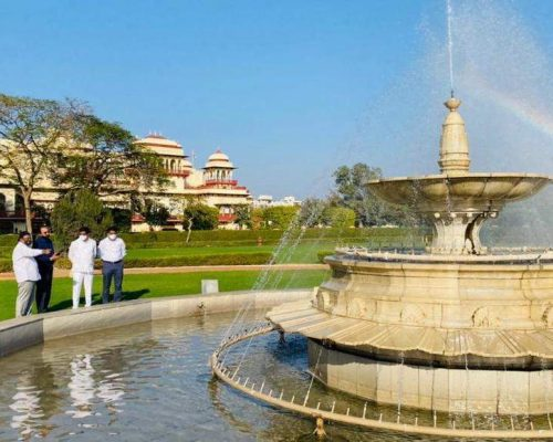 Telangana team visits palaces, fountains in Jaipur