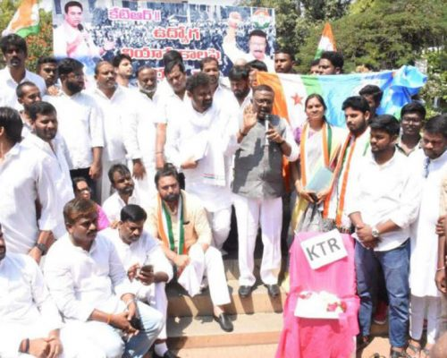 KTR misleading 40 lakh youth on jobs: Cong