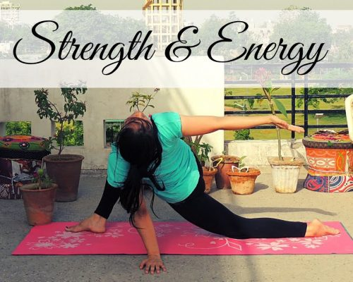 15 Min Power Yoga Workout For Strength & Energy | Indian Yoga by Dolly's Studio